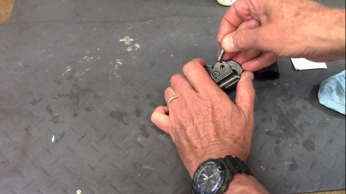 Insert Pin Into Bushing While Aligning Lever Arm In The Bushing