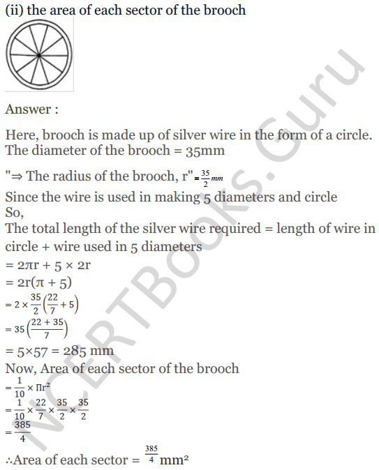 KC Sinha Maths Solutions Class 10 Chapter 13.Areas Related to circles - Ex 13 - 28