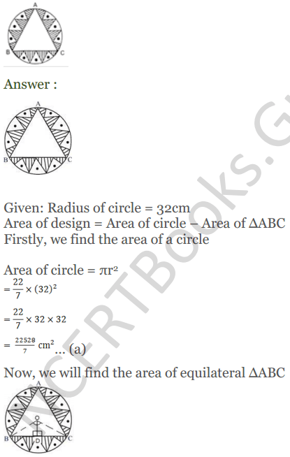 KC Sinha Maths Solutions Class 10 Chapter 13.Areas Related to circles - Ex 13 - 31