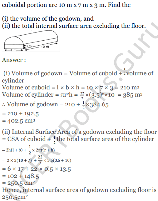 KC Sinha Maths Solutions Class 10 Chapter 14. Surface Areas and volumes - Ex 14.2 - 18