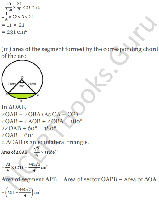 KC Sinha Maths Solutions Class 10 Chapter 13.Areas Related to circles - Ex 13 - 25