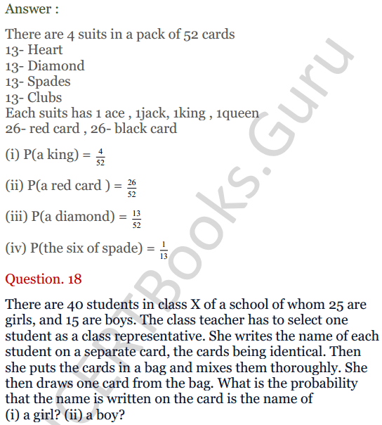 KC Sinha Maths Solutions Class 10 Chapter 15. Probability Ex.15 - 13