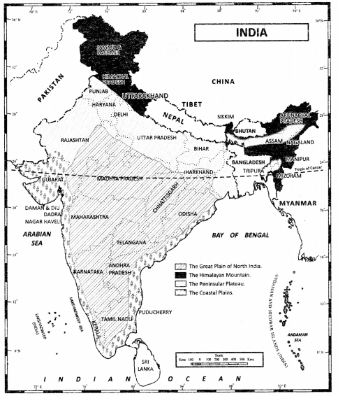 Class 11 Geography NCERT Solutions Chapter 1 India