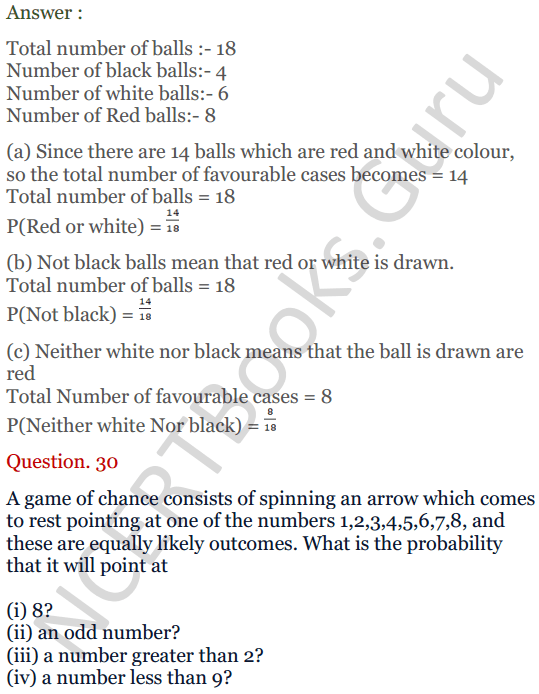 KC Sinha Maths Solutions Class 10 Chapter 15. Probability Ex.15 - 22