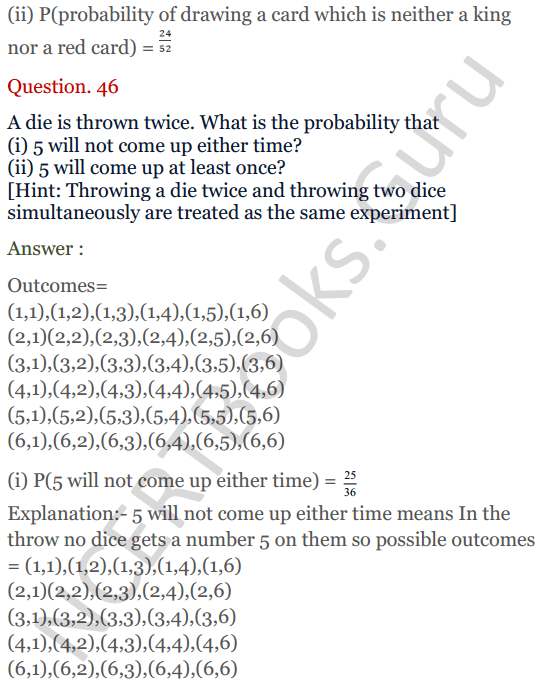 KC Sinha Maths Solutions Class 10 Chapter 15. Probability Ex.15 - 33