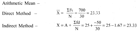 RBSE Solutions for Class 11 Economics Chapter 8 Arithmetic Mean 10