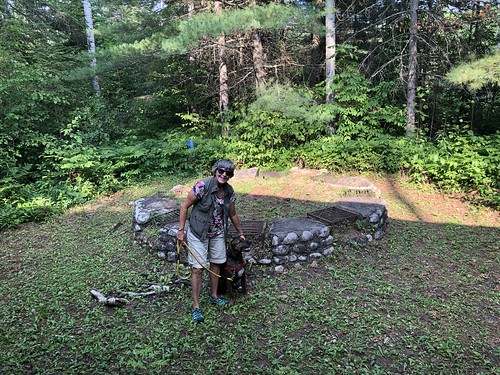 Kap-Kig-Iwan - an old fire pit with multiple grills