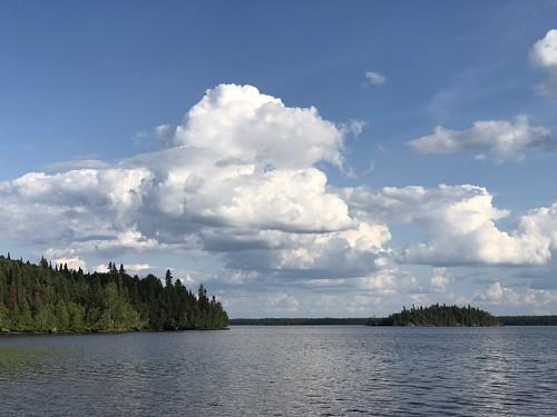 Fushimi Lake Provincial Park - cool cloud over lake
