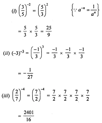 ML Aggarwal Class 8 Solutions for ICSE Maths Chapter 2 Exponents and Powers Ex 2.1 Q1.1