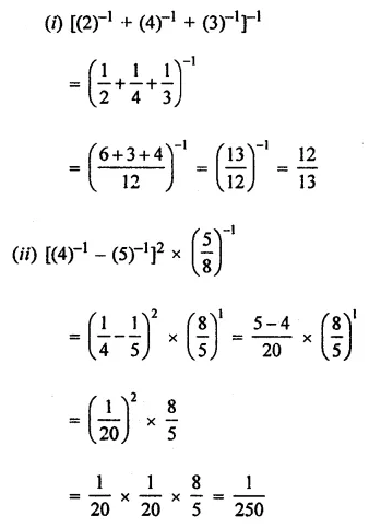 ICSE Class 8 Maths Book Solutions Free Download Pdf Chapter 2 Exponents and Powers Ex 2.1 Q2.1