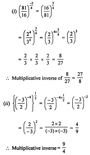 ML Aggarwal Class 8 Solutions for ICSE Maths Chapter 2 Exponents and Powers Ex 2.1 Q3.1