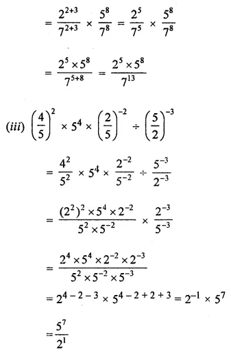ML Aggarwal Class 8 Solutions for ICSE Maths Chapter 2 Exponents and Powers Ex 2.1 Q6.2