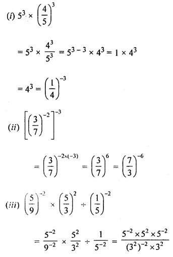 ICSE Class 8 Maths Book Solutions Free Download Pdf Chapter 2 Exponents and Powers Ex 2.1 Q8.1