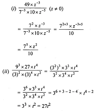 ML Aggarwal Class 8 Solutions Chapter 2 Exponents and Powers Ex 2.1 Q9.1
