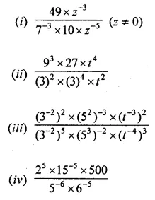 ML Aggarwal Maths for Class 8 Solutions Book Pdf Chapter 2 Exponents and Powers Ex 2.1 Q9