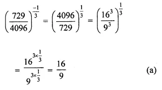 Maths Questions for Class 8 ICSE With Answers Chapter 2 Exponents and Powers Objective Type Questions Q6.1
