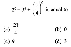 ICSE Class 8 Maths Book Solutions Free Download Pdf Chapter 2 Exponents and Powers Objective Type Questions Q11