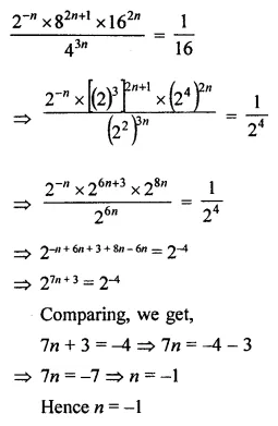 Maths Questions for Class 8 ICSE With Answers Chapter 2 Exponents and Powers Check Your Progress Q8