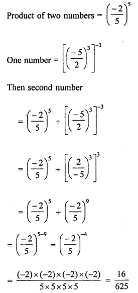 ICSE Mathematics Class 8 Solutions Chapter 2 Exponents and Powers Check Your Progress Q9