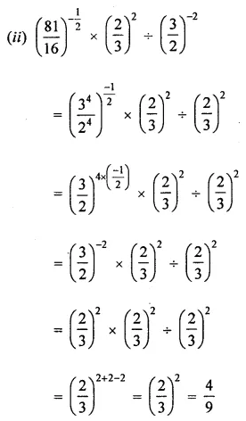 ML Aggarwal Maths for Class 8 Solutions Book Pdf Chapter 2 Exponents and Powers Check Your Progress Q4.2