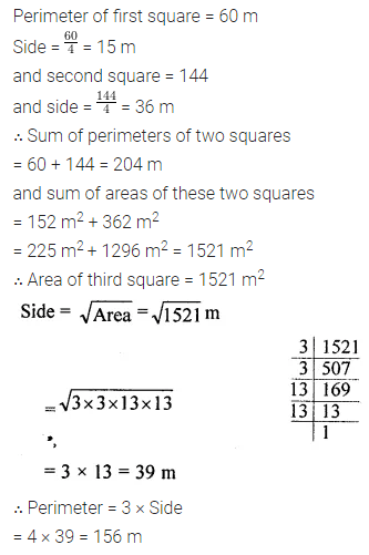 ML Aggarwal Class 8 Solutions for ICSE Maths Chapter 3 Squares and Square Roots Ex 3.3 Q13