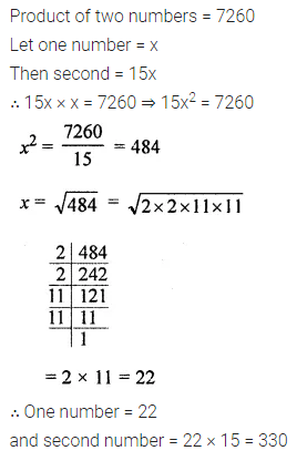 ML Aggarwal Class 8 Solutions for ICSE Maths Chapter 3 Squares and Square Roots Ex 3.3 Q11