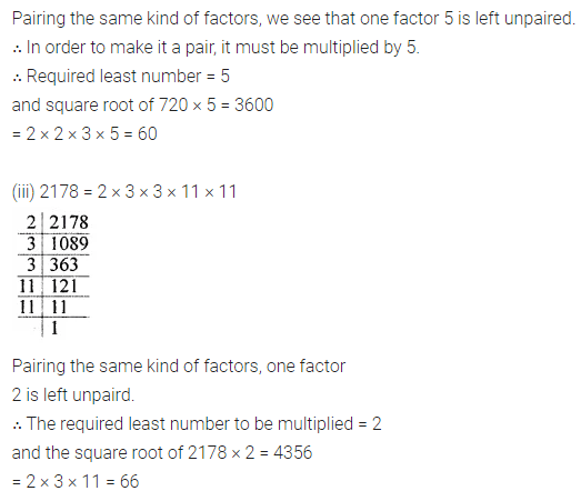 ML Aggarwal Maths for Class 8 Solutions Book Pdf Chapter 3 Squares and Square Roots Ex 3.3 Q4.1