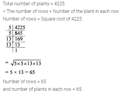 ML Aggarwal Class 8 Solutions for ICSE Maths Chapter 3 Squares and Square Roots Ex 3.3 Q7