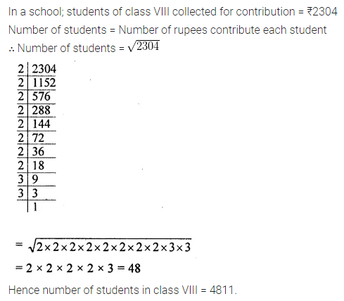 ML Aggarwal Class 8 Solutions for ICSE Maths Chapter 3 Squares and Square Roots Ex 3.3 Q10