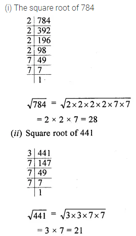 ML Aggarwal Class 8 Solutions for ICSE Maths Chapter 3 Squares and Square Roots Ex 3.3 Q2