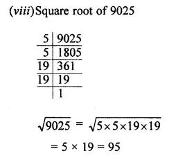 ML Aggarwal Class 8 Solutions for ICSE Maths Chapter 3 Squares and Square Roots Ex 3.3 Q2.3
