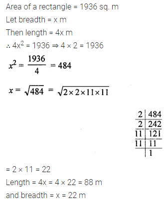 ML Aggarwal Class 8 Solutions Chapter 3 Squares and Square Roots Ex 3.3 Q8