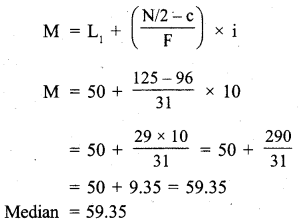 RBSE Solutions for Class 11 Economics Chapter 9 Median