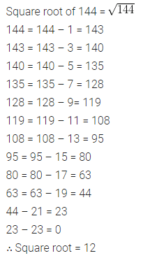 ML Aggarwal Maths for Class 8 Solutions Book Pdf Chapter 3 Squares and Square Roots Check Your Progress Q9