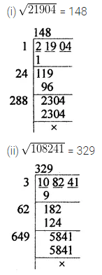 APC Maths Class 8 Solutions Chapter 3 Squares and Square Roots Check Your Progress Q11