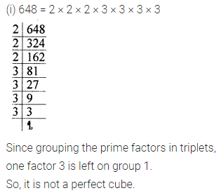 ICSE Mathematics Class 8 Solutions Chapter 4 Cubes and Cube Roots Ex 4.1 Q1