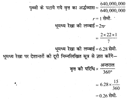 RBSE Solutions for Class 11 Pratical Geography Chapter 3 प्रक्षेप 2