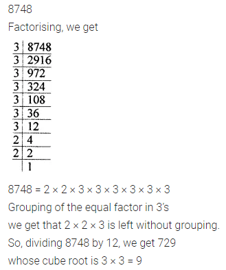 ML Aggarwal Class 8 Solutions for ICSE Maths Chapter 4 Cubes and Cube Roots Ex 4.2 Q8