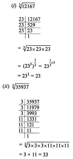 ML Aggarwal Class 8 Solutions Chapter 4 Cubes and Cube Roots Ex 4.2 Q1