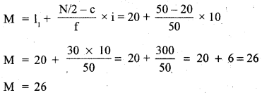 RBSE Solutions for Class 11 Economics Chapter 9 Median 46
