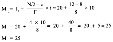 RBSE Solutions for Class 11 Economics Chapter 9 Median 38