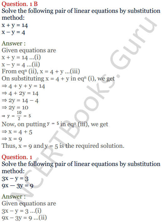 KC Sinha Maths Solutions Class 10 Chapter 3 Pair of Linear Equations in Two Variables Ex 3.2 - 2