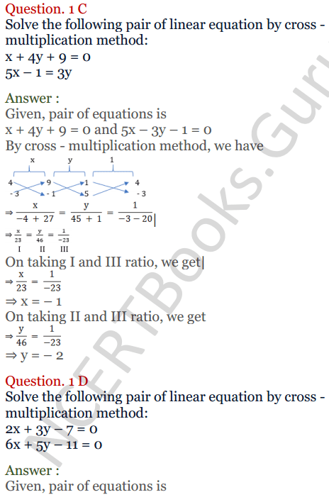 KC Sinha Maths Solutions Class 10 Chapter 3 Pair of Linear Equations in Two Variables Ex 3.4 - 3