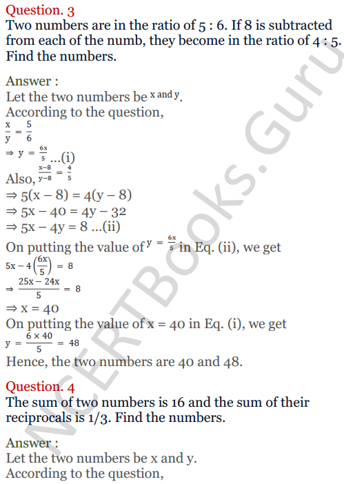 KC Sinha Maths Solutions Class 10 Chapter 3 Pair of Linear Equations in Two Variables Ex 3.5 - 3