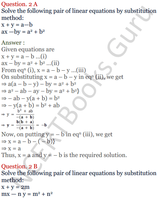 KC Sinha Maths Solutions Class 10 Chapter 3 Pair of Linear Equations in Two Variables Ex 3.2 - 4