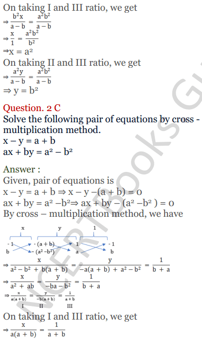 KC Sinha Maths Solutions Class 10 Chapter 3 Pair of Linear Equations in Two Variables Ex 3.4 - 8