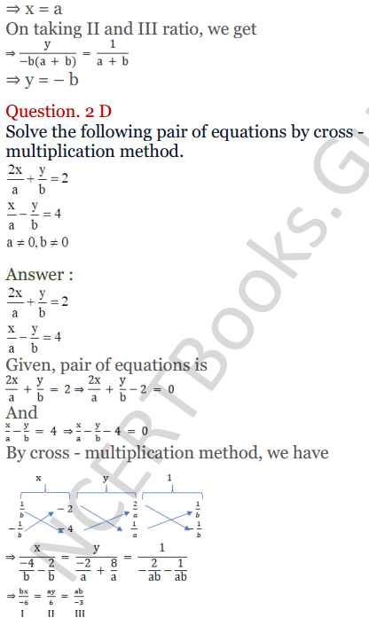 KC Sinha Maths Solutions Class 10 Chapter 3 Pair of Linear Equations in Two Variables Ex 3.4 - 9