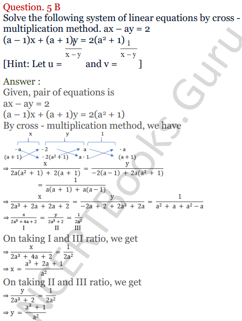 KC Sinha Maths Solutions Class 10 Chapter 3 Pair of Linear Equations in Two Variables Ex 3.4 - 20
