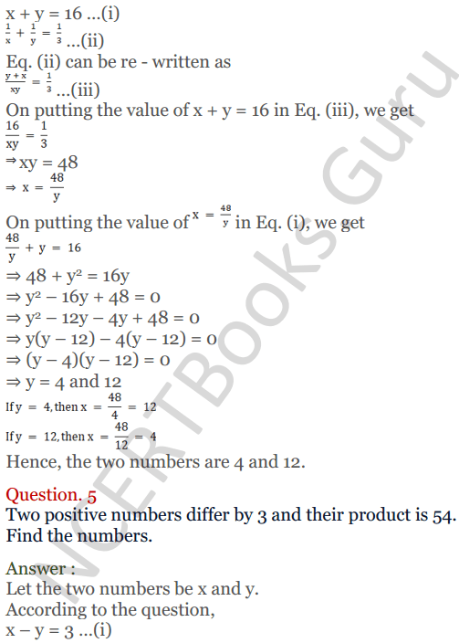 KC Sinha Maths Solutions Class 10 Chapter 3 Pair of Linear Equations in Two Variables Ex 3.5 - 4