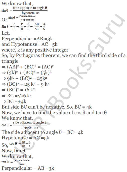 KC Sinha Maths Solutions Class 10 Chapter 4 Trigonometric Ratios and Identities Ex 4.1 - 29